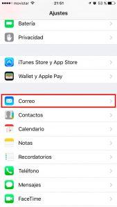 Configuracion de tu iPhone